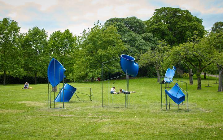 Ghazaleh Avarzamani, Strange Temporalities (2019). Exhibition view: Frieze Sculpture, Regent's Park, London (3 July–6 October 2019). Courtesy Ab-Anbar, Stephen White/Frieze. Photo: Stephen White.