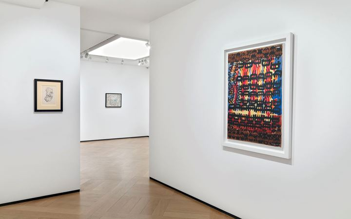 Exhibition view: Group Exhibition, Hans Hartung and Art Informel, Mazzoleni, London (1 October 2019–18 January 2020). Courtesy Mazzoleni, London-Torino. Photo: Todd-White Art Photography.