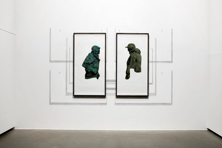 Exhibition view: Lada Nakonechna, Images from abroad, Galerie EIGEN + ART, Berlin (9 January–20 February 2020). Courtesy Galerie EIGEN + ART, Berlin. Photo: Uwe Walter, Berlin.