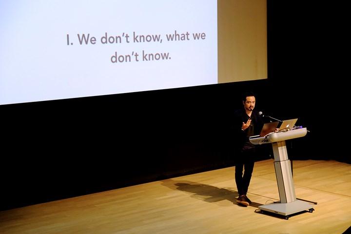 Pablo José Ramírez at What to Let Go?, Para Site International Conference, Tai Kwun – Centre for Heritage and Arts, Hong Kong (22–24 November 2018). Courtesy Para Site. Photo: Eddie Lam, Image Art Studio.