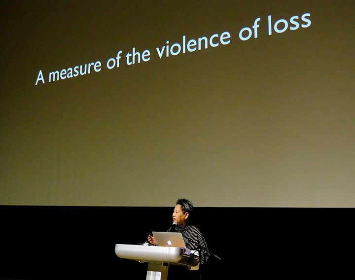 Marian Pastor Roces at What to Let Go?, Para Site International Conference, Tai Kwun – Centre for Heritage and Arts, Hong Kong (22–24 November 2018). Courtesy Para Site. Photo: Eddie Lam, Image Art Studio.