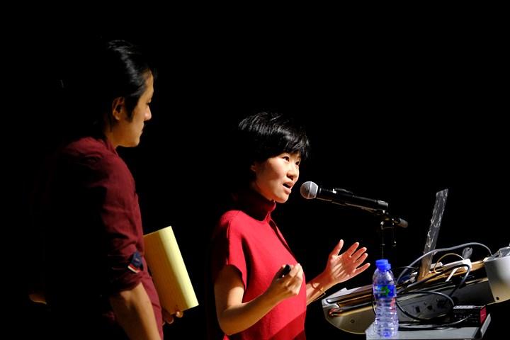 Xiaoxuan Lu and Bo Wang at What to Let Go?, Para Site International Conference, Tai Kwun – Centre for Heritage and Arts, Hong Kong (22–24 November 2018). Courtesy Para Site. Photo: Eddie Lam, Image Art Studio.