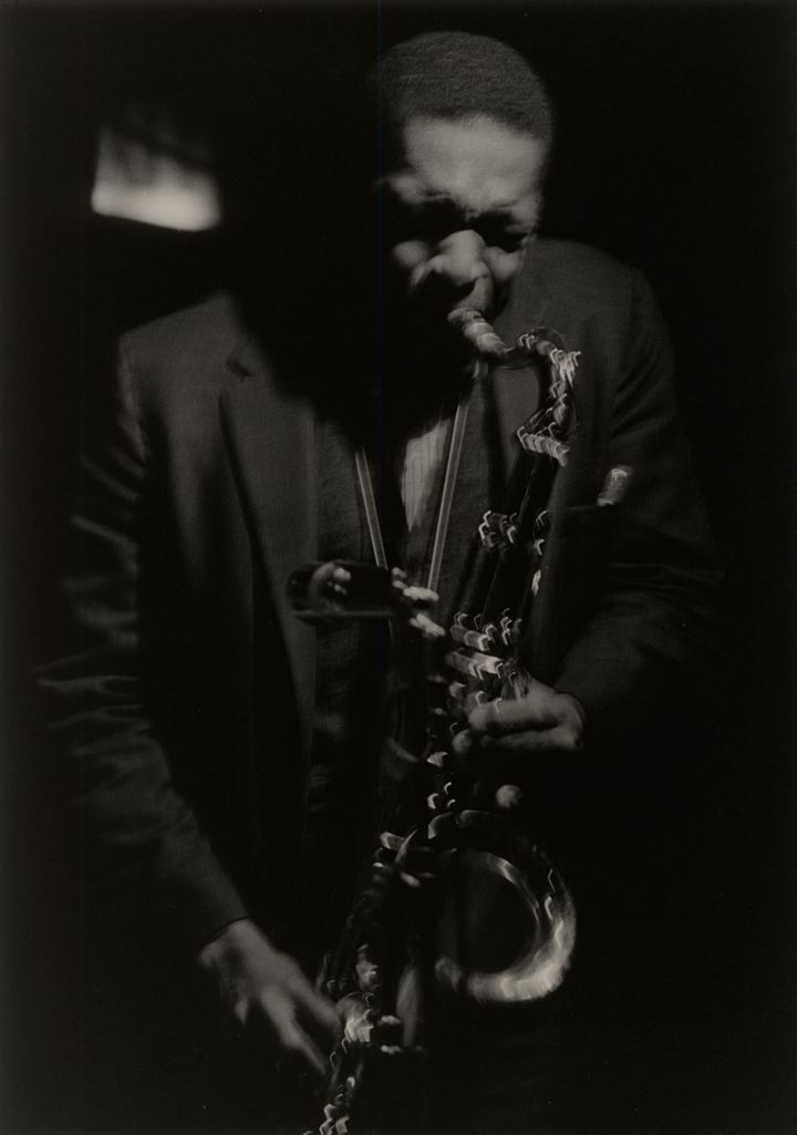 Roy DeCarava, Coltrane #24 (1961). © 2019 Estate of Roy DeCarava. All rights reserved. Courtesy David Zwirner.