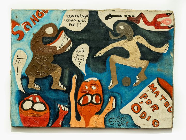 Sérgio Sister, Untitled (1967). Acrylic paint on canvas. 147 x 99 cm 57 7/8 x 39 inches. Courtesy Galeria Nara Roesler.