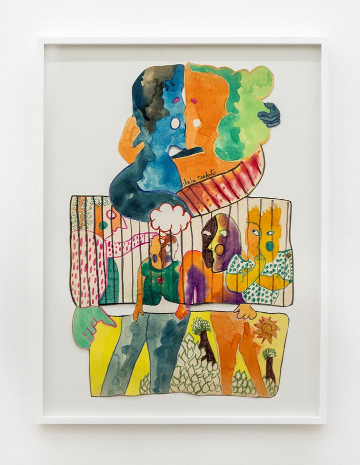 Sergio Sister, Untitled (1970). Ecoline paint, pencil, oily pastel and hydrographic pen on paper. 68 x 46 cm 26 3/4 x 18 1/8 inches
