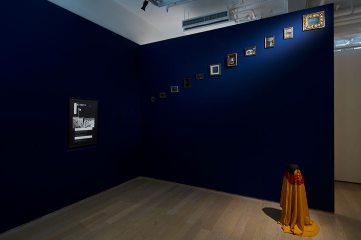 Ho Sin Tung, Futile Devices (2019); 'Over' (2019); Dead Skin (2019) (left to right). Exhibition view:  Swampland 沼澤地, Hanart TZ Gallery, Hong Kong (9 January–29 February 2020). Courtesy Hanart TZ Gallery. Photo: South Ho Siu Nam.