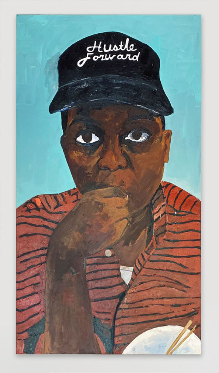 Henry Taylor, Man, I'm so full of doubt, but I must Hustle Forward, as my daughter Jade would say (2020). Acrylic on canvas. 503.174 x 271.78 x 10.414 cm. Courtesy the artist and Hauser & Wirth.