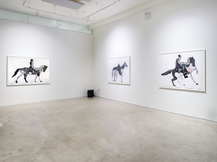 Exhibition view: Nate Lewis, Latent Tapestries, Fridman Gallery, New York (1 March–5 April 2020). Courtesy Fridman Gallery. Photo: Jason Mandella.