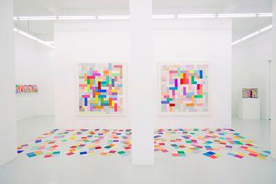 Exhibition view: Mit Jai Inn, Patchworlds, Yavuz Gallery, Singapore (30 May–19 July 2015).