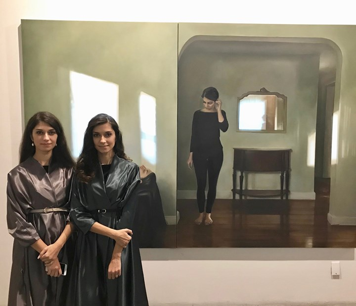 The Safarani Sisters, Opening Reception for 'Reincarnation,' Roya Khadjavi Projects, New York (18 Ooctober 2018). Courtesy Asia Contemporary Art Week.