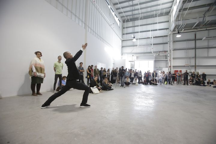 River Lin, '20 Minutes for the 20th Century, But Asian', performed by Wen-Chung Lin at FIELD MEETING Take 6: Thinking Collections, Alserkal Avenue, Dubai (25–26 January 2019). Courtesy Asia Contemporary Art Week.