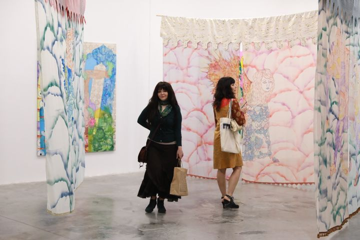 Nadira Husain, Pop-up Exhibition, 'Cosmic Trips' at FIELD MEETING Take 6: Thinking Collections, Alserkal Avenue, Dubai (25–26 January 2019). Courtesy Asia Contemporary Art Week.
