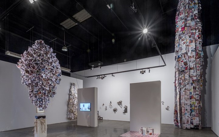 Exhibition view: Hassan Sharif, Images, Gallery Isabelle van den Eynde, Dubai (5 March–7 May 2015). © Estate of Hassan Sharif. Courtesy Gallery Isabelle van den Eynde.