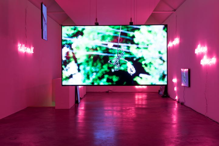 Exhibition view: Jaki Irvine, Ack Ro', Kerlin Gallery, Dublin (24 January–29 February 2020). Courtesy the artist and Kerlin Gallery.