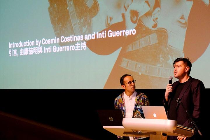 Introduction by Cosmin Costinas and Inti Guerrero at What to Let Go?, Para Site International Conference, Tai Kwun – Centre for Heritage and Arts, Hong Kong (22–24 November 2018). Courtesy Para Site. Photo: Eddie Lam, Image Art Studio.