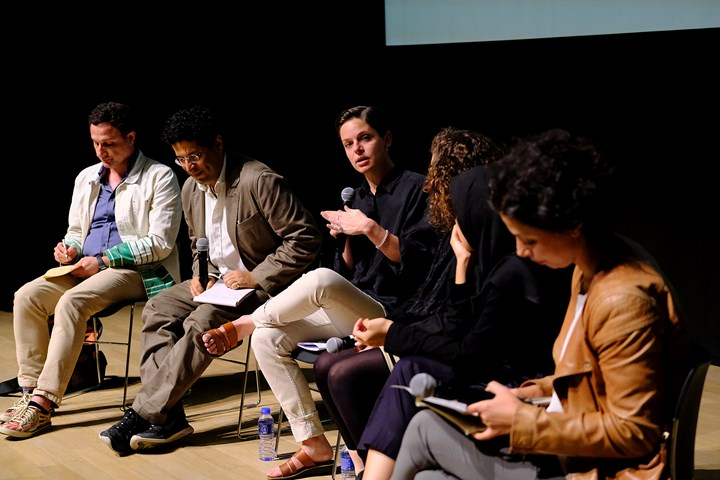 Panel Discussion, moderated by Özge Ersoy, at What to Let Go?, Para Site International Conference, Tai Kwun – Centre for Heritage and Arts, Hong Kong (22–24 November 2018). Courtesy Para Site. Photo: Eddie Lam, Image Art Studio.