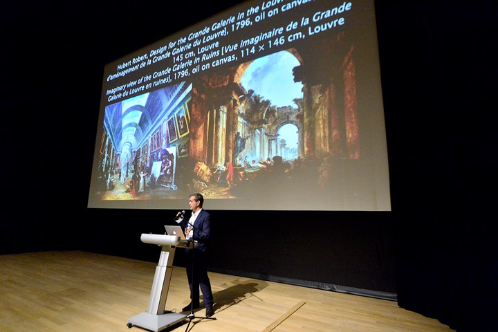 Éric de Chassey at What to Let Go?, Para Site International Conference, Tai Kwun – Centre for Heritage and Arts, Hong Kong (22–24 November 2018). Courtesy Para Site. Photo: Eddie Lam, Image Art Studio.