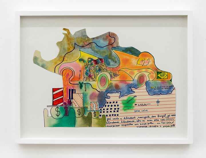 Sergio Sister, Untitled (1969). Ecoline paint, pencil, oily pastel and hydrographic pen on paper. 44 x 29.5 cm 17 5/16 x 11 5/8 inches. Courtesy Galeria Nara Roesler.