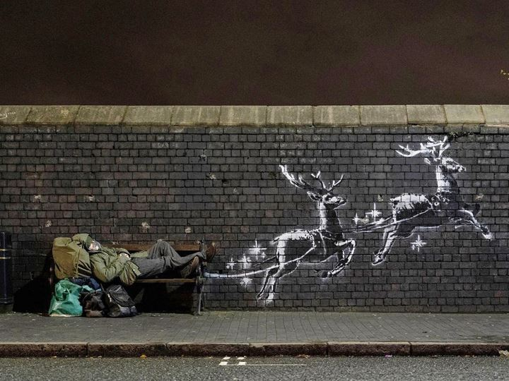 Bansky, God Bless Birmingham (2019). Courtesy Banksy/Instagram