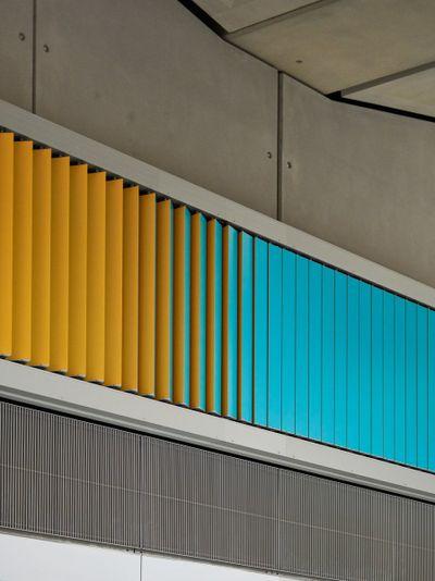 Alexandre da Cunha, Sunset, Sunrise, Sunset (2021). Battersea Power Station Underground station. Commissioned by Art on the Underground.