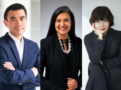 Singapore Art Museum director Dr Eugene Tan, M+ Hong Kong director Suhanya Raffel, and Mori Art Museum director Mami Kataoka.