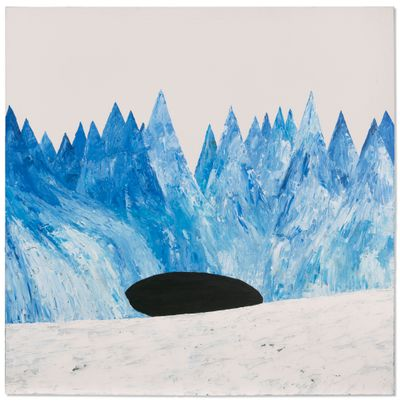 Stanley Donwood, Hole (2001). Acrylic on canvas. 149.9 x 149.8cm.