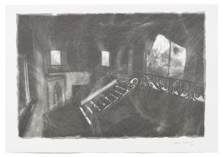 Melati Suryodarmo, PHOSPHENES 2 (2018). Screenprint with charcoal powder on paper. 77.5 x 112 cm. Courtesy STPI – Creative Workshop & Gallery.