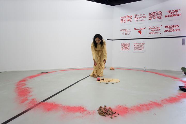 Enkhjargal Ganbat, 53rd Action performance for the 52 ARTISTS 52 ACTIONS Symposium, Artspace, Sydney (20–21 July 2019). Courtesy Artspace, Sydney. Photo: Anna Kucera.