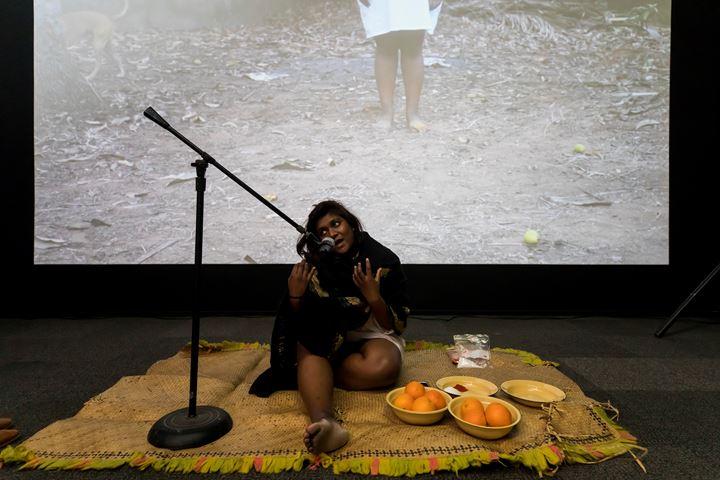 Shivanjani Lal, 53rd Action performance for the 52 ARTISTS 52 ACTIONS Symposium, Artspace, Sydney (20–21 July 2019). Courtesy Artspace, Sydney. Photo: Anna Kucera.