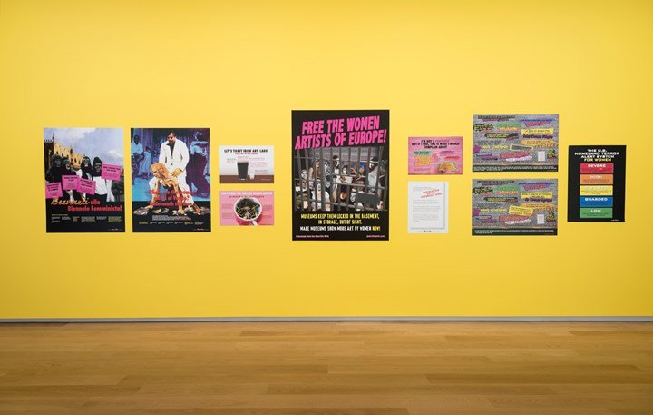 Exhibition view: Guerrilla Girls, Reinventing the 'F' Word—Feminism!, Auckland Art Gallery (8 March–13 October 2019). Courtesy Auckland Art Gallery.
