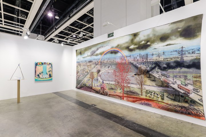 Sarah Sze, Jules de Balincourt and Grayson Perry, Victoria Miro, Art Basel in Hong Kong (29–31 March 2019). Courtesy Ocula. Photo: Charles Roussel.