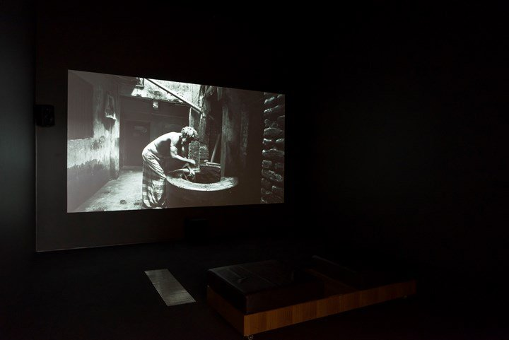 Munem Wasif, Kheyal (2015–2018). Single-channel video, black and white, sound 16:9. 23 min 34 sec. Exhibition view: 9th Asia Pacific Triennial of Contemporary Art (APT), Queensland Art Gallery   Gallery of Modern Art, Brisbane (24 November 2018–28 April 2019). Courtesy the artist and Queensland Art Gallery   Gallery of Modern Art. Photo: Natasha Harth.