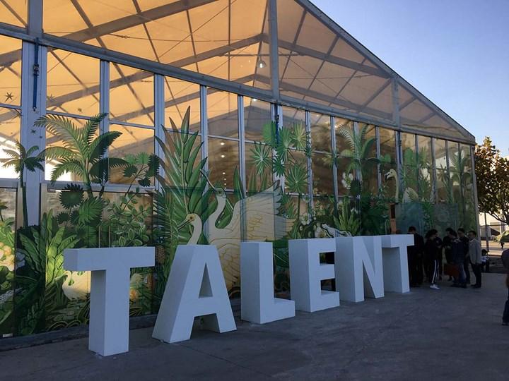 Talent sector at West Bund Art & Design, Shanghai (10–12 November 2017). Photo: Sam Gaskin.