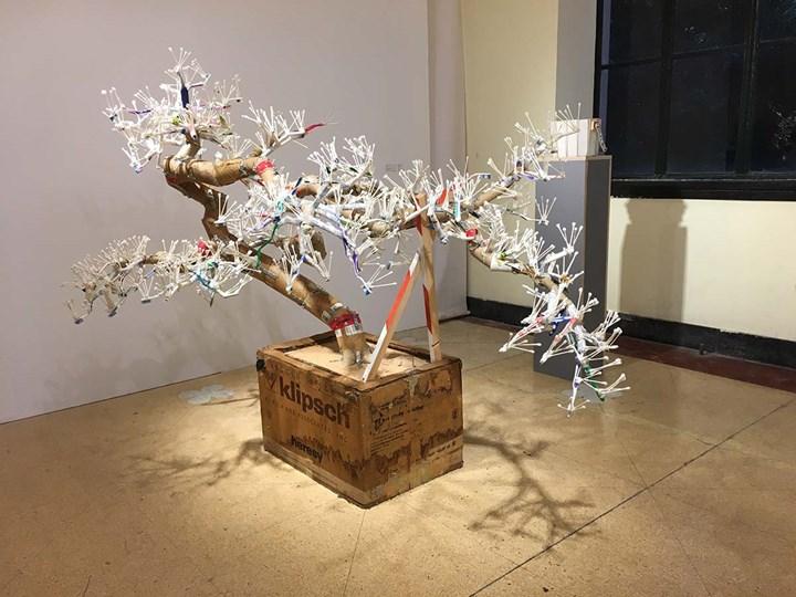 Tom Sachs, Bonsai Original (2015). Exhibition view: West Bund Art & Design, Shanghai (10–12 November 2017). Photo: Sam Gaskin.