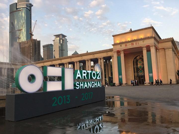 Art021 at Shanghai Exhibition Center (9–12 November 2017). Photo: Sam Gaskin.