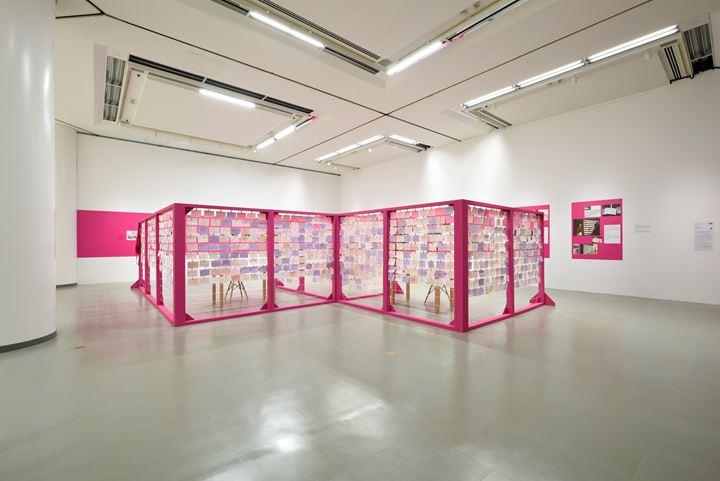 Mónica Mayer, The Clothesline (2019). Exhibition view: Taming Y/Our Passion, Aichi Triennale 2019, Aichi Prefecture (1 August–14 October 2019). Courtesy Aichi Triennale. Photo: Ito Tetsuo.