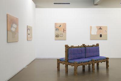 Exhibition view: Daniel Dewar and Grégory Gicque, Jan Kaps, Independent Brussels (19–23 April 2017). Photo: Isabelle Arthuis.
