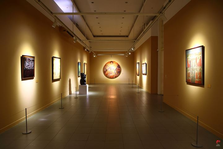 Exhibition view: Exhibition of the National Art Collection #2: Lini Transisi, National Gallery of Indonesia, Jakarta (1–31 August 2019). Courtesy National Gallery of Indonesia.