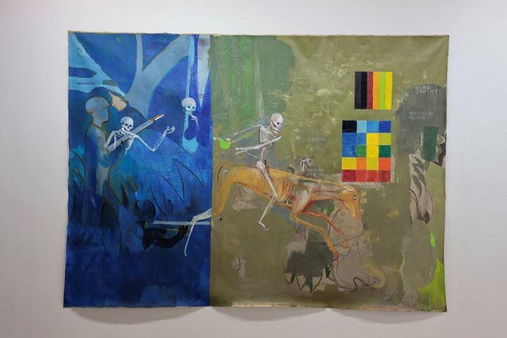 Sawangwongse Yawnghwe, Four Horsemen (2019). Exhibition view: TKG+, Art Jakarta, Jakarta, (30 August–1 September 2019). Courtesy Art Jakarta.