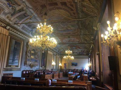 City Council Hall, Palazzo d'Accursio, Bologna. Photo: Stephanie Bailey.