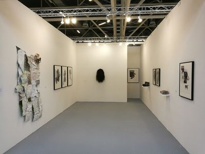 Exhibition view: Marcia Kure at Officine dell'Immagine, Arte Fiera, Bologna (2–5 February 2018).