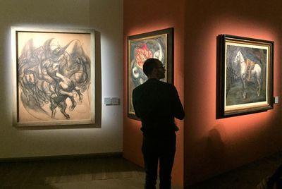 Exhibition view: La Mostra Sospesa, Palazzo Fava, Bologna (19 October 2017–18 February 2018). Photo: Stephanie Bailey.