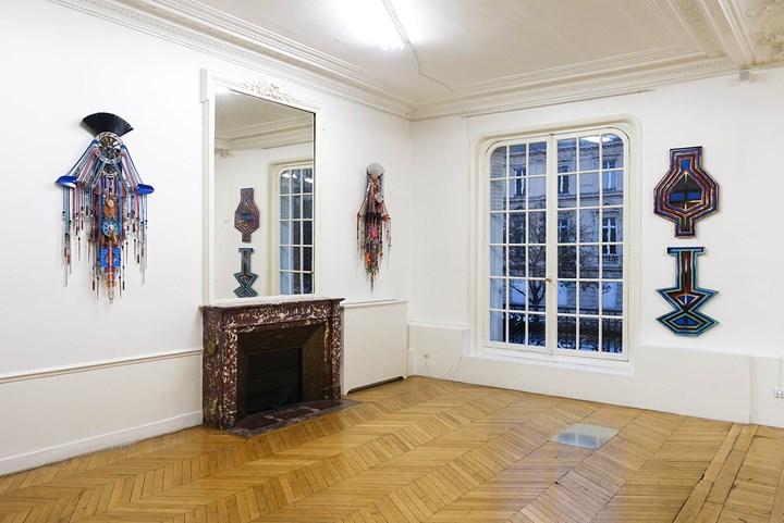 Exhibition view: Anne Samat and Haffendi Anuar at Richard Koh Fine Art, ASIA NOW, Paris (18–22 October 2017). Courtesy Galerie Maria Lund.