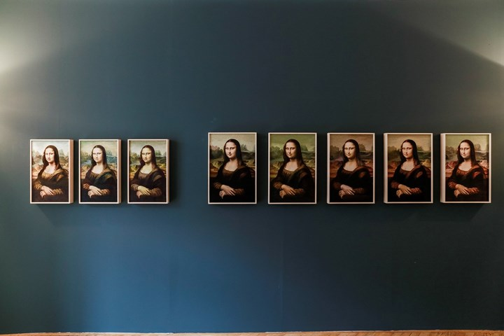 Kyungah Ham, Mona Lisa and the others from the North (2015). Exhibition view: Kukje Gallery, ASIA NOW, Paris (18–22 October 2017). Courtesy Ocula. Photo: Charles Roussel.