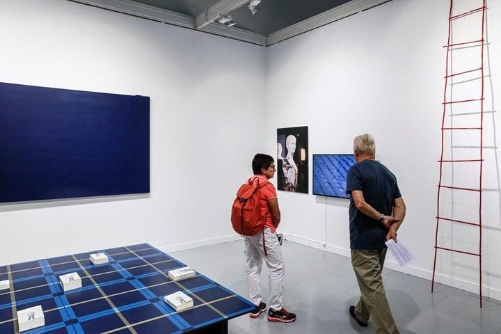 Exhibition view: Edouard Malingue Gallery, FIAC, Paris (19-22 October 2017). Courtesy Ocula. Photo: Charles Roussel.