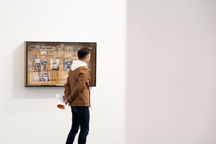 Simon Denny, Shenzhen Innovation Paradigm—Mass Entrepreneurship–1 (2017). Exhibition view: Fine Arts, Auckland Art Fair, The Cloud, Auckland (2–5 May 2019). Courtesy Auckland Art Fair.
