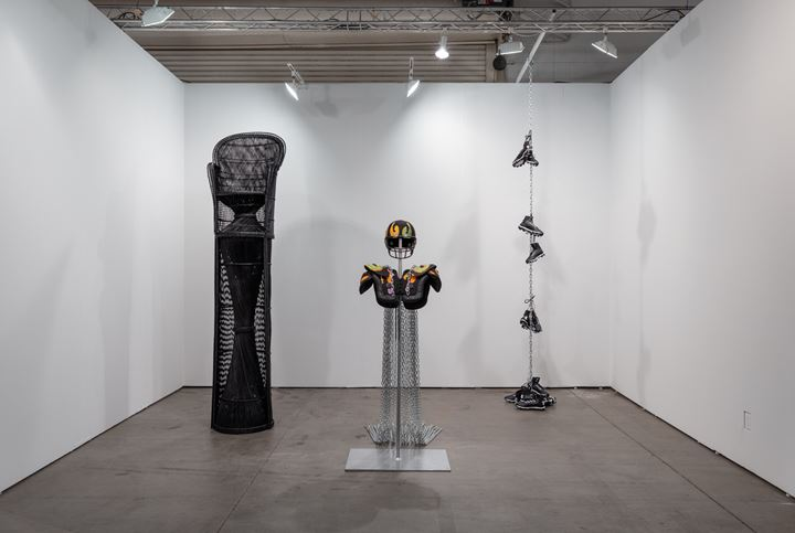 Exhibition view: Esmaa Mohamoud presented by Georgia Scherman Projects, EXPO Chicago (19–22 September 2019). Courtesy Georgia Scherman Projects.