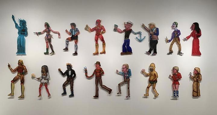 Exhibition view: Spryos Aggelopoulos at Dio Horia, EXPO Chicago (19–22 September 2019). Courtesy Dio Horia.