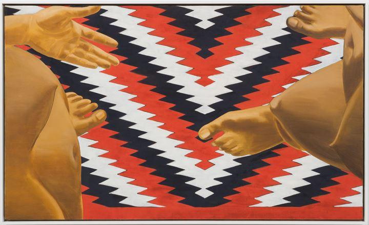 Luchita Hurtado, Untitled (1970). Oil on canvas. 76.2 × 127 cm. Courtesy the artist and Hauser & Wirth. © Luchita Hurtado. Photo: Jeff McLane.