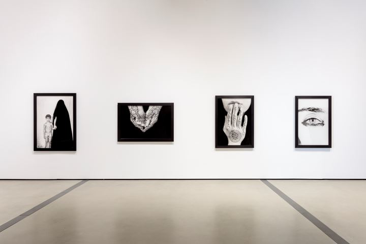 Exhibition view: Shirin Neshat, I Will Greet the Sun Again, The Broad, Los Angeles (19 October–16 February 2020). Courtesy The Broad. Photo: Joshua White/JWPictures.com.